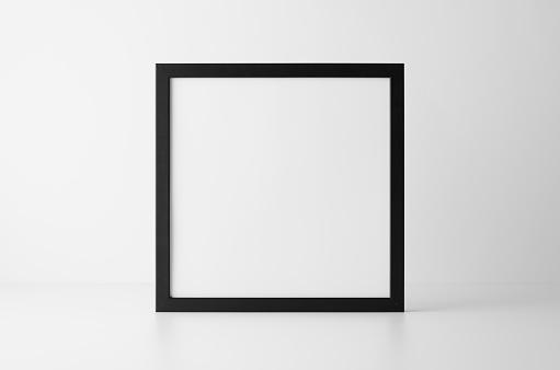 Black Square Frame Mock-Up