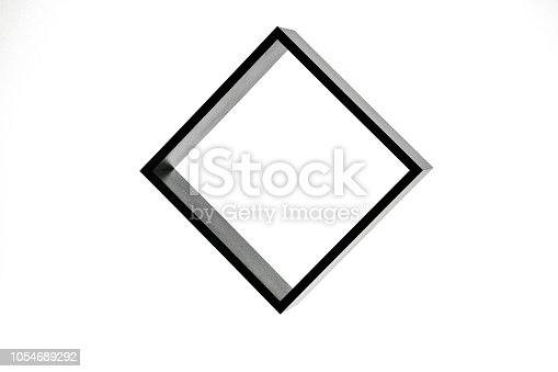 istock black square isolated on white background, freestanding black frame, abstract framework photography 1054689292