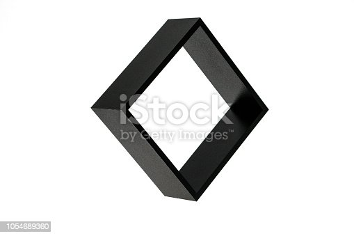 istock black square isolated on white background, freestanding black frame, abstract framework photography 1054689360