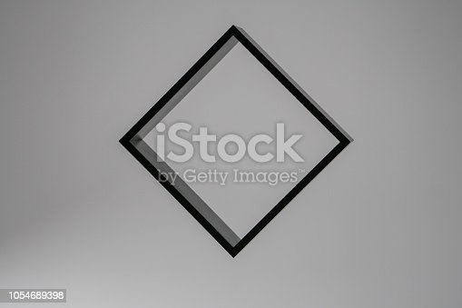 istock black square isolated on white background, freestanding black frame, abstract framework photography 1054689398