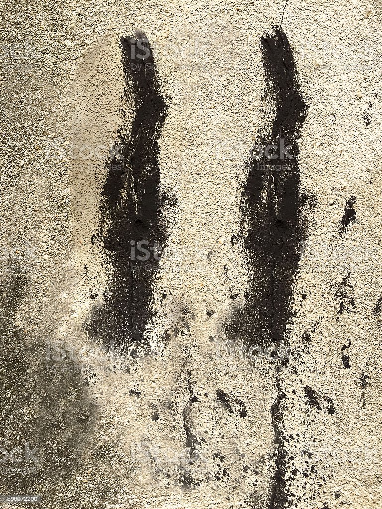 black stain on concrete wall royalty-free stock photo