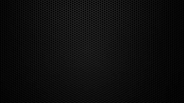 Black stainless steel hexagonal mesh background. Black stainless steel hexagonal mesh background. metal stock pictures, royalty-free photos & images