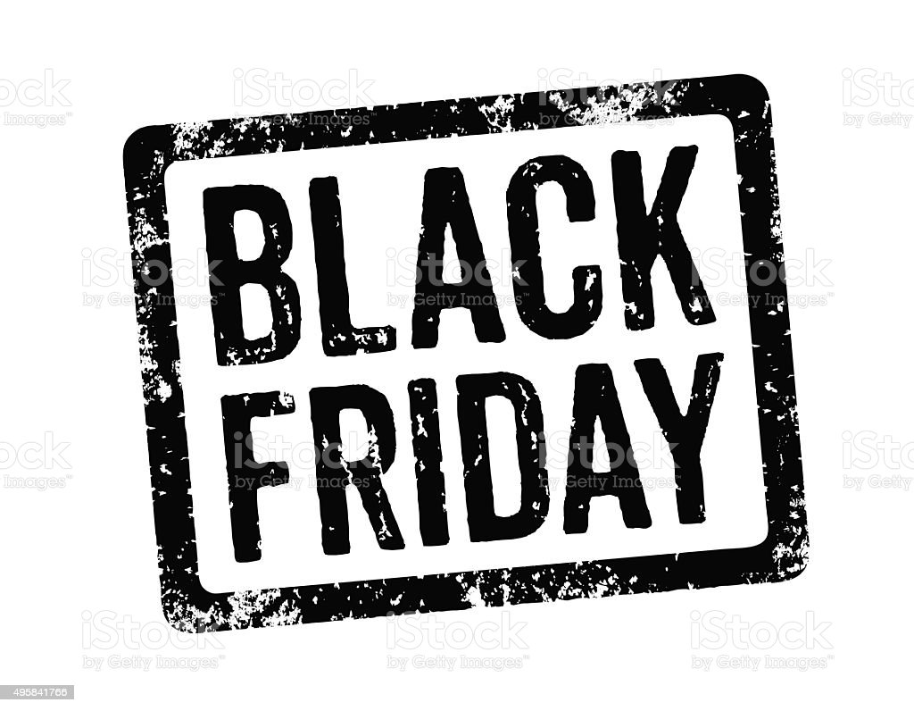 Black Stamp - Black Friday stock photo