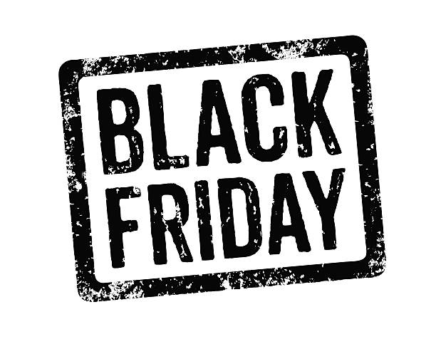 Black-Briefmarke – Black Friday – Foto