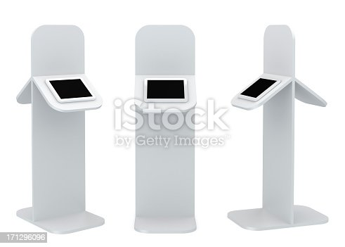 istock Black standing platform with tablet display 171296096
