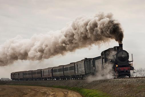 Black steam train