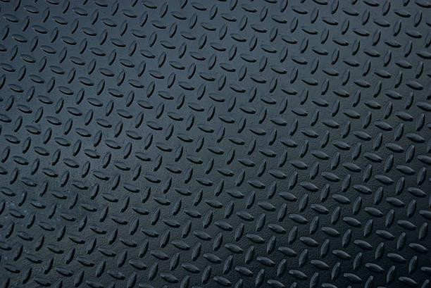 black steel diamond tread landscape horizontal background - diamond plate background stock photos and pictures