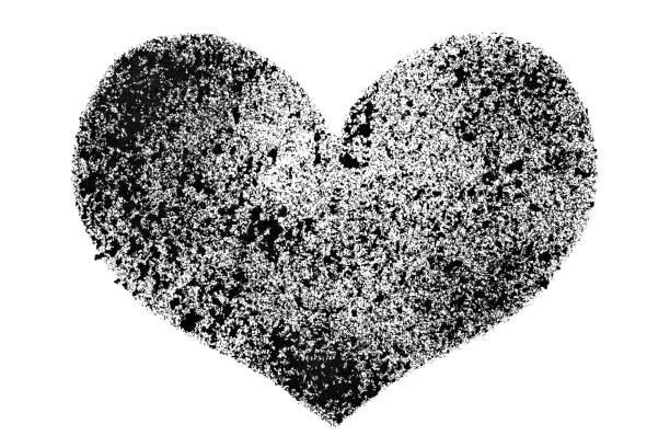 Black stenciled heart - Photo