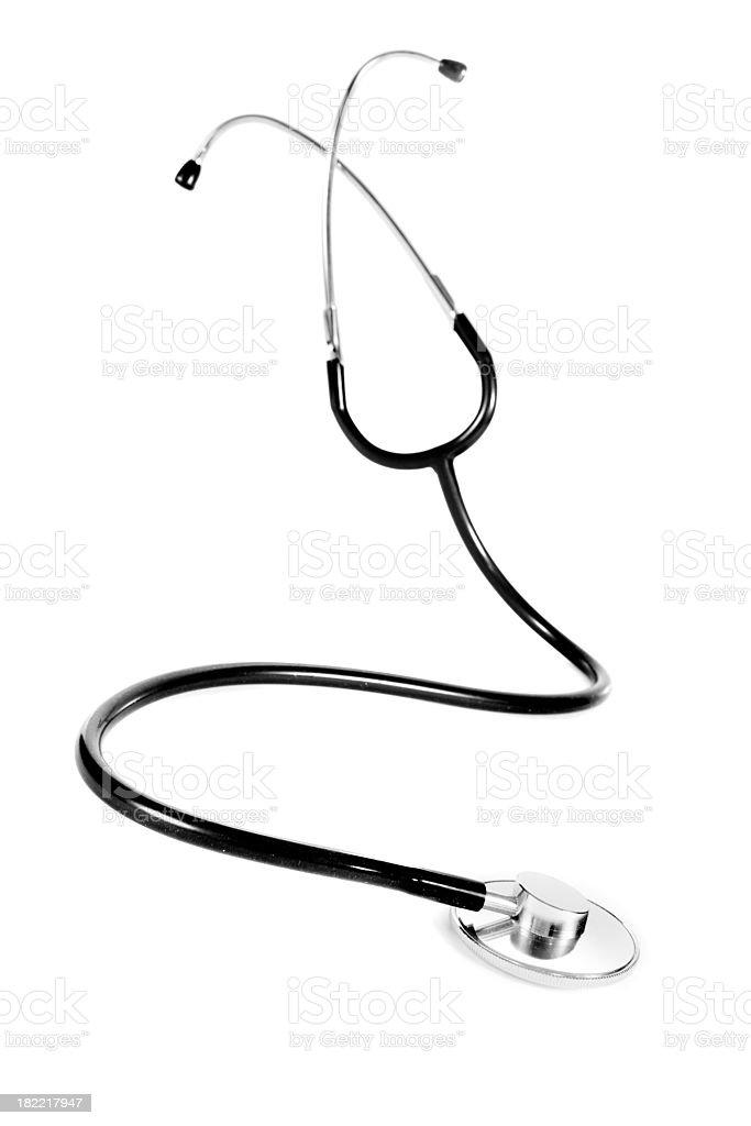 black Stethoskop isolated on white royalty-free stock photo