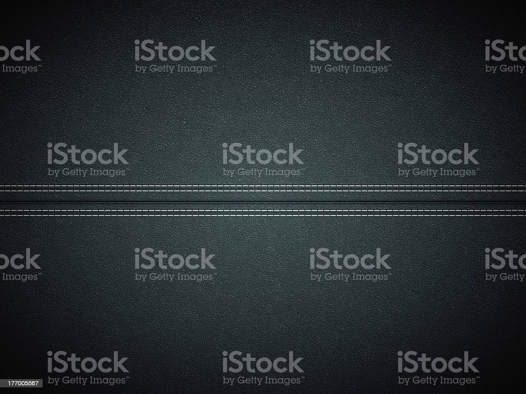 Black stitched leather. Useful as texture stock photo