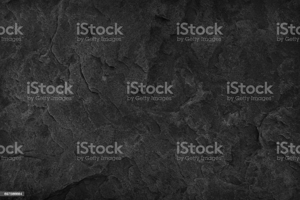 Black Stone background. Dark gray texture close up high quality May be used blank for design. Copy space stock photo