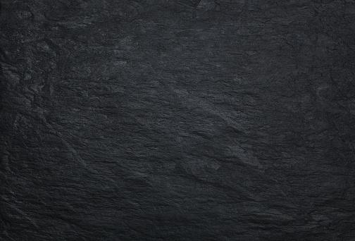 Black stone background, texture with copy space