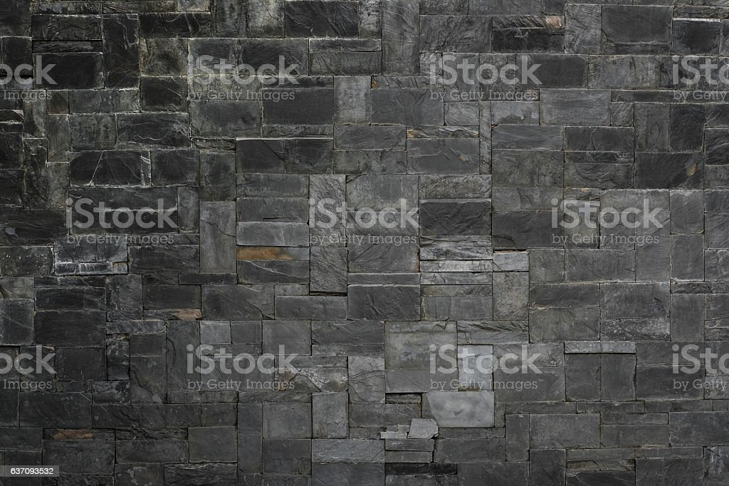 Black stone slate texture background stock photo