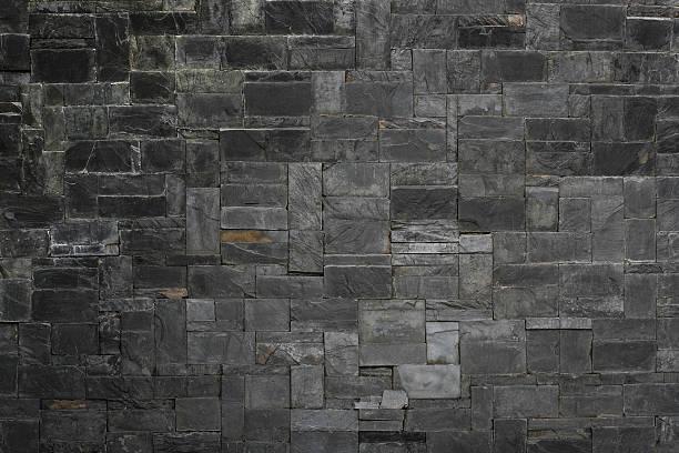 black stone slate texture background - schiefer fliesen stock-fotos und bilder