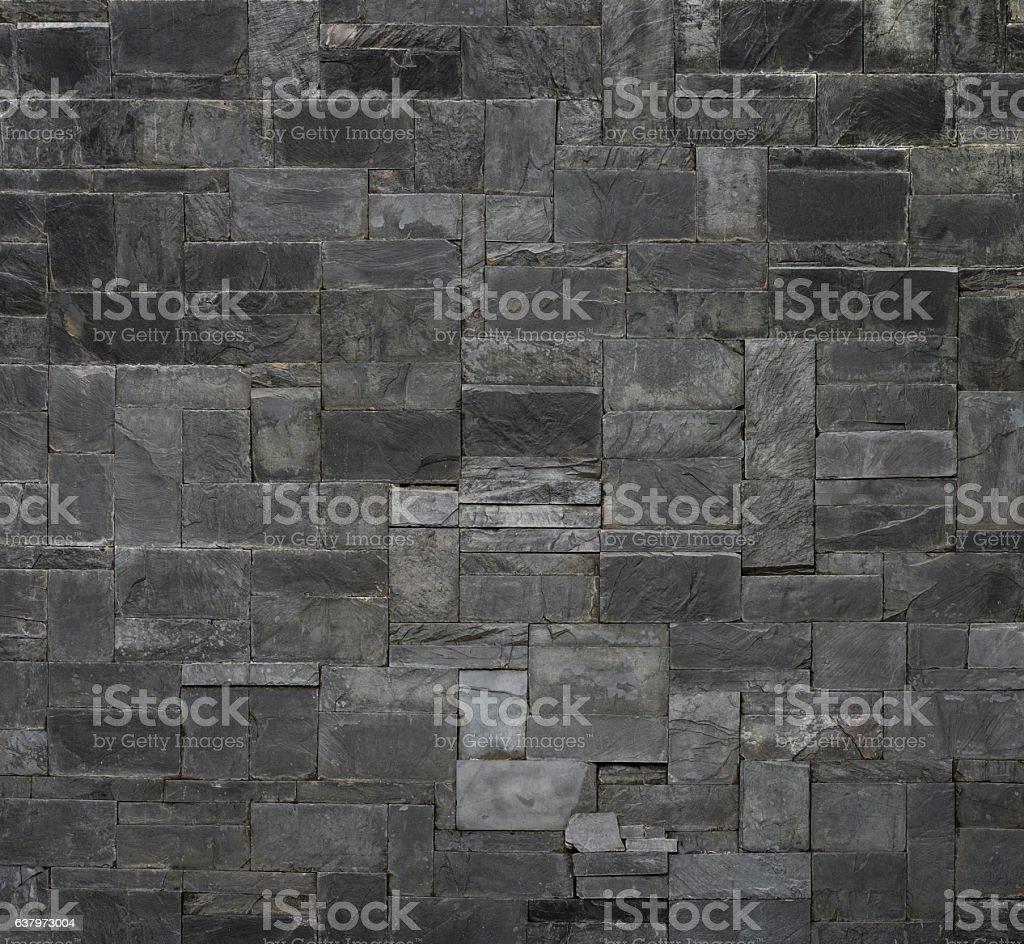Black stone slate texture background stock photo