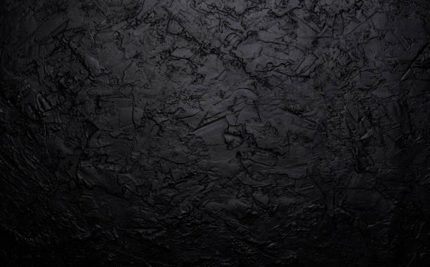 black stone texture, dark slate background, top view - mármore rocha imagens e fotografias de stock