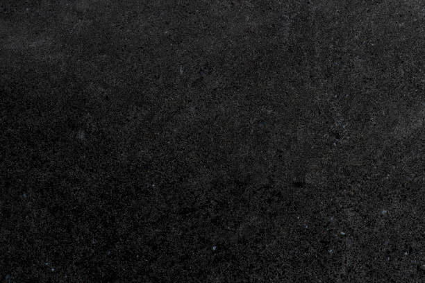 Black stone tile floor background stock photo