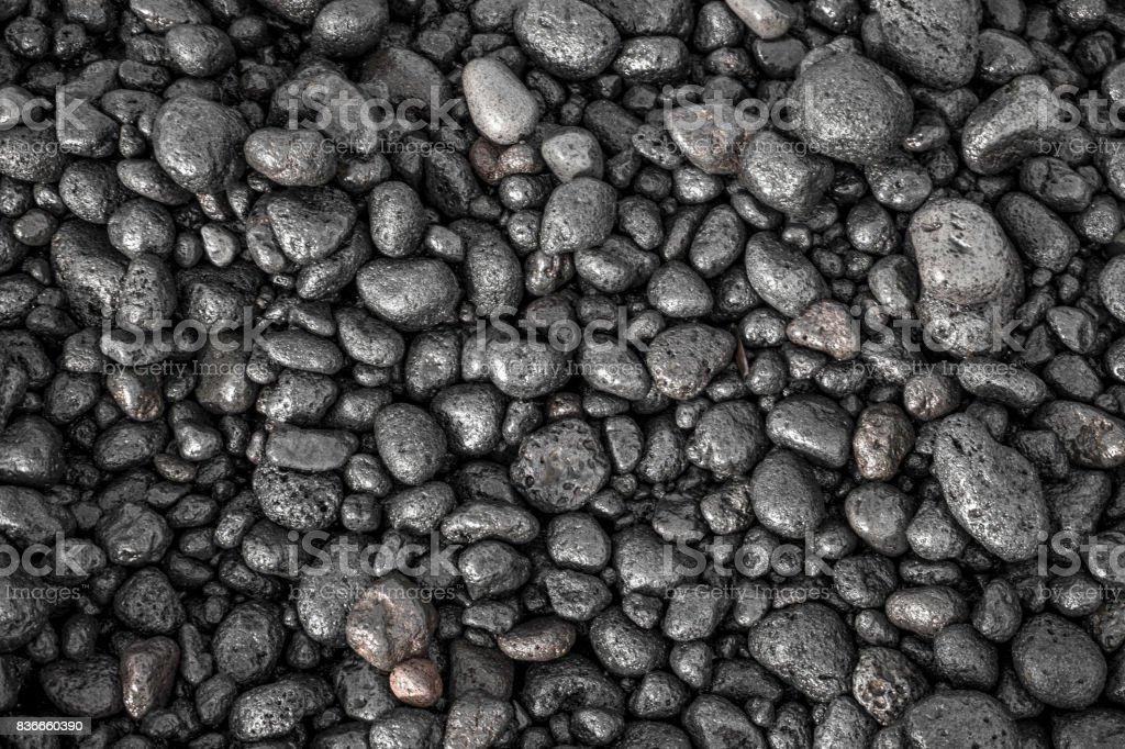 Black Stones Beach stock photo