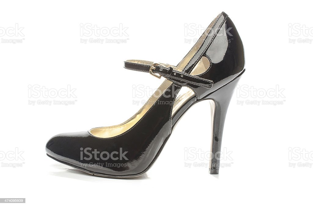 Black strappy shoes royalty-free stock photo