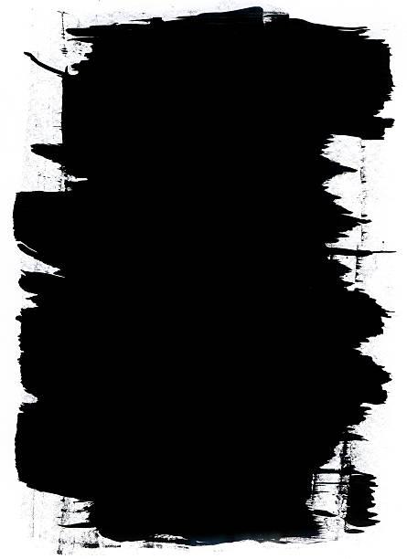 Black streak on white background Grunge mask. (Design Element) black border stock pictures, royalty-free photos & images