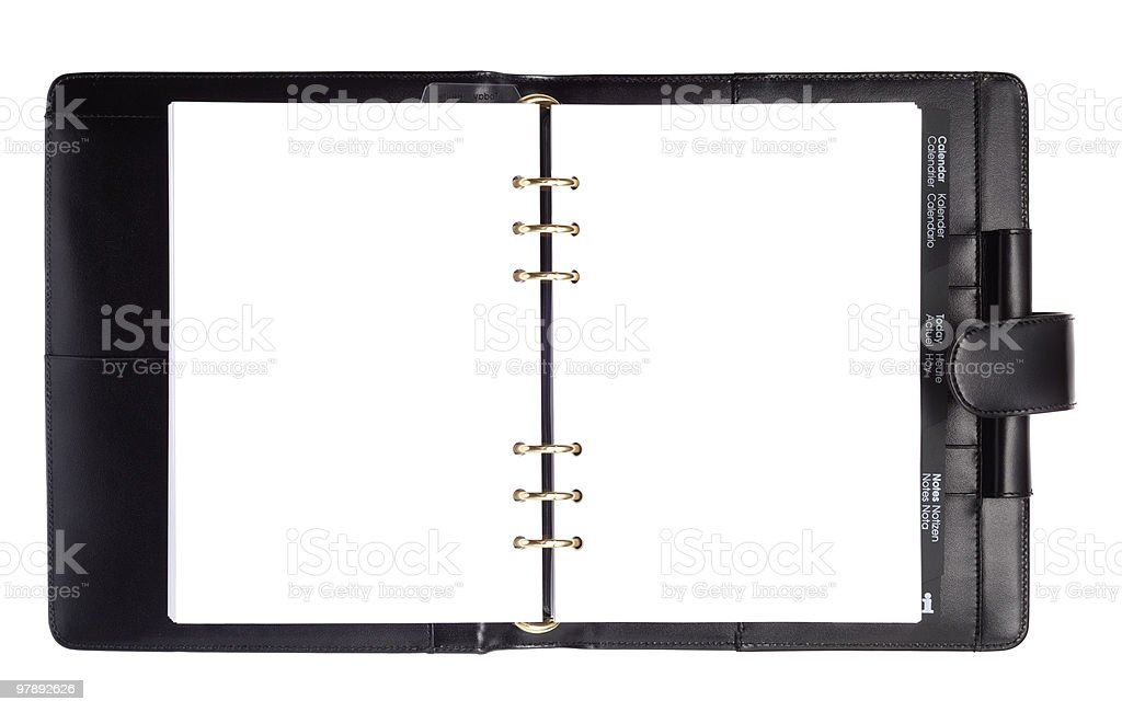 Black Style Paper Notebook royalty-free stock photo
