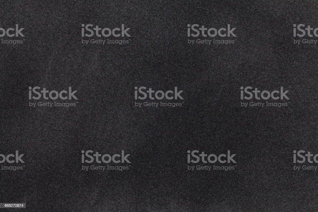 Closeup de la tela de gamuza negra. Textura de terciopelo. - foto de stock