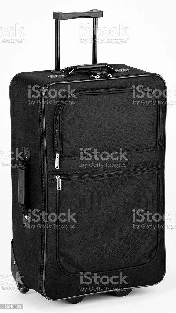 A black suitcase on a white background  stock photo