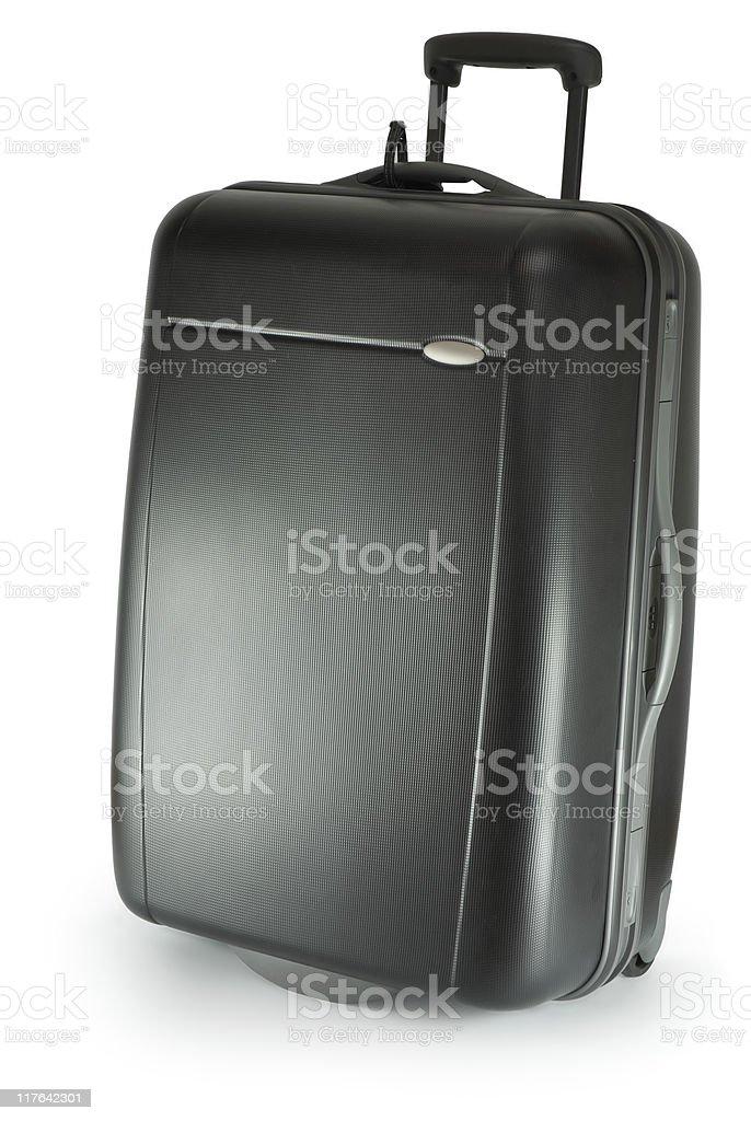 Black suitcase on wheels royalty-free stock photo