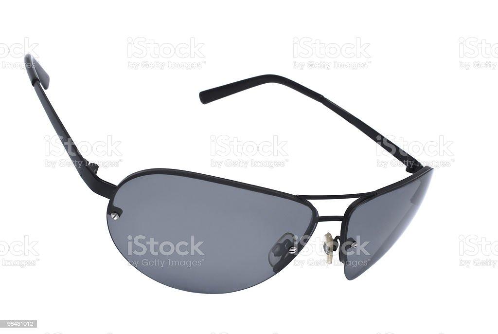 black sunglasses isolated on white background royalty-free stock photo