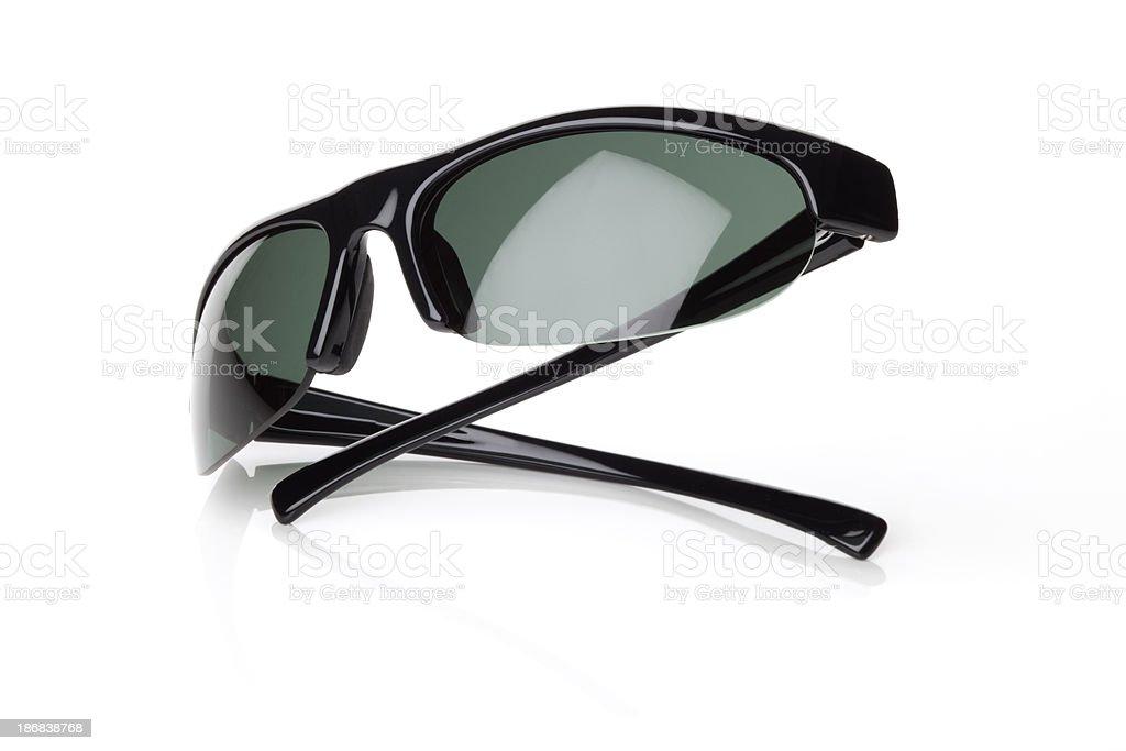 black sunglasses isolated on white stock photo