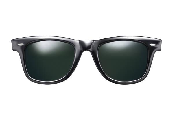 Schwarzer Sonnenbrille Isoliert – Foto