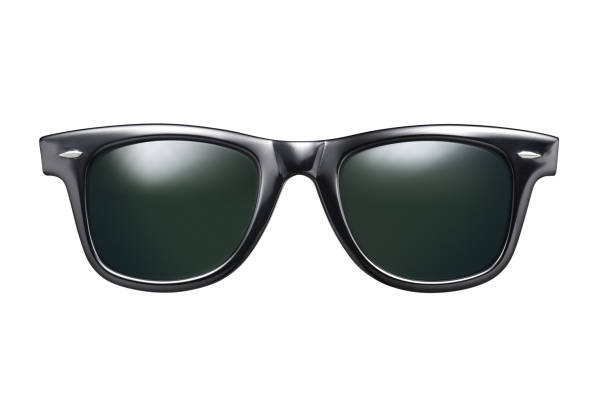 Black sunglasses isolated stock photo