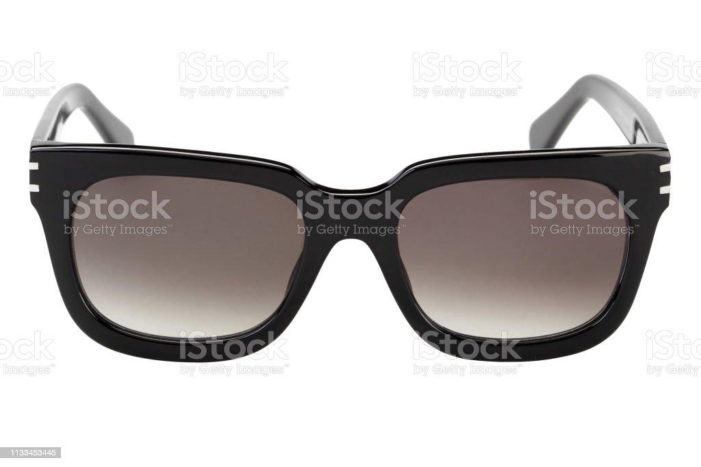 Zwarte zonnebrillen geïsoleerd foto