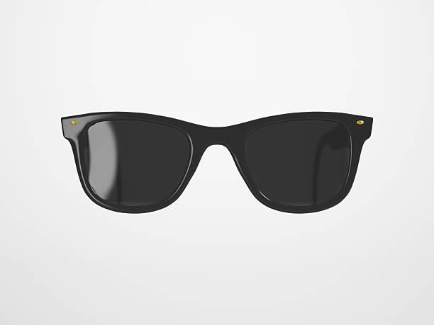 Schwarze Sonnenbrille auf leuchtenden Hintergrund – Foto