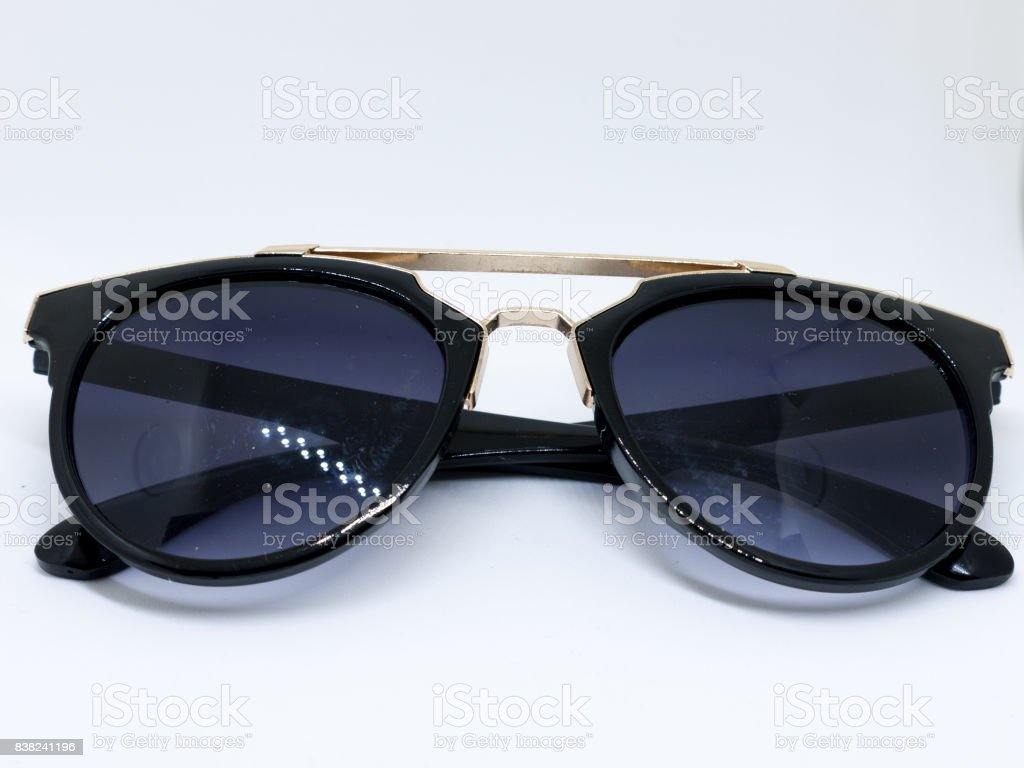 Black Sunglasses on White stock photo