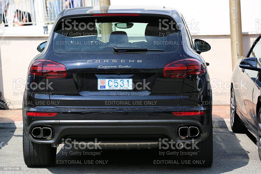 Black Suv Porsche Cayenne Turbo In Monaco Stock Photo Download Image Now Istock