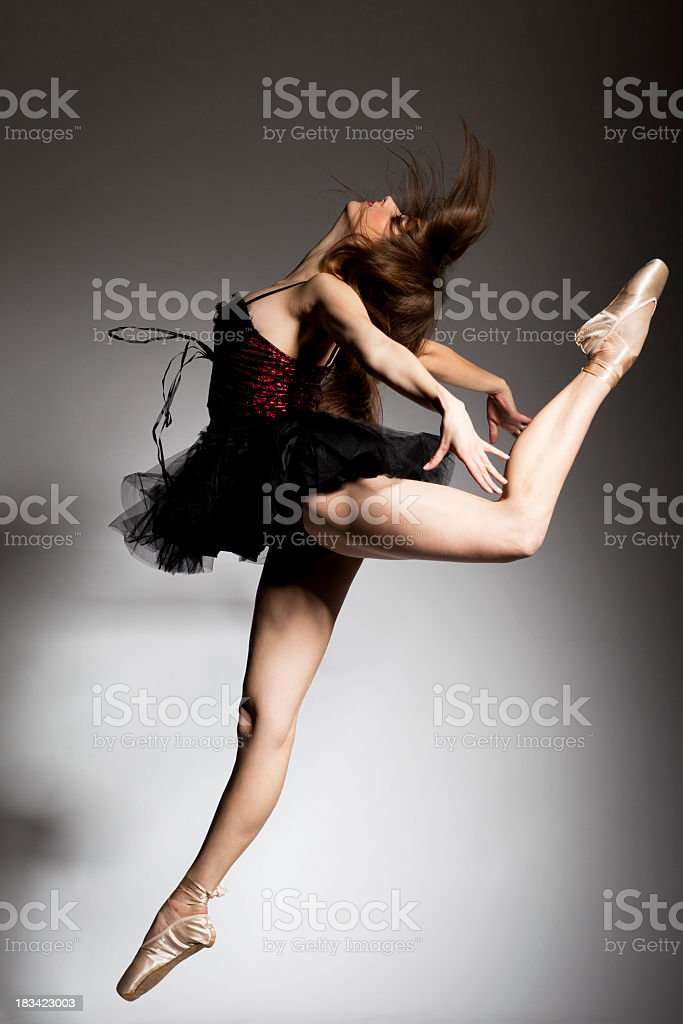 Black swan dance royalty-free stock photo
