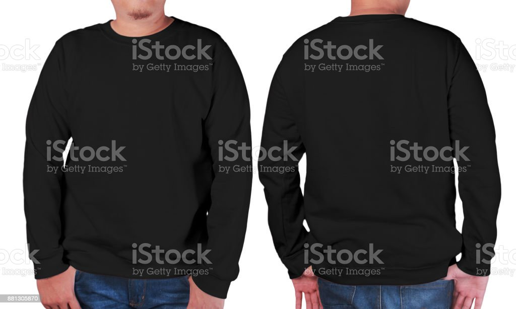black sweater long sleeved shirt mockup template stock photo more