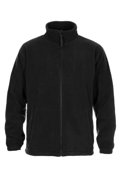 schwarzes sweatshirt fleece für mann - fleecepullover stock-fotos und bilder