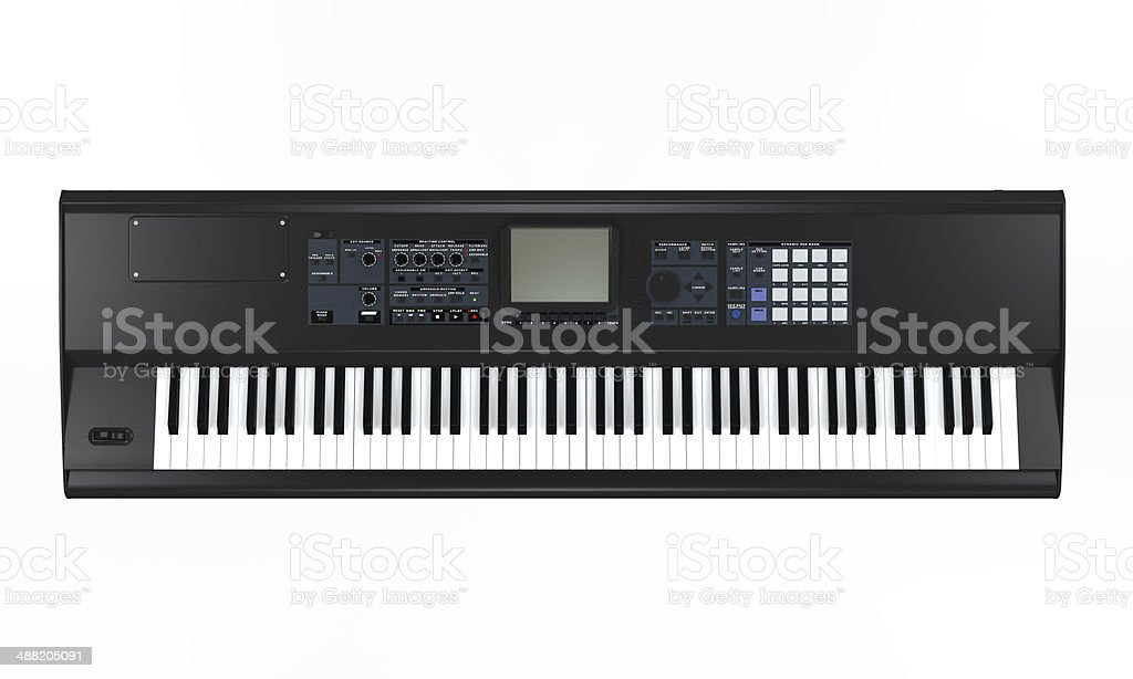 Black Synthesizer stock photo