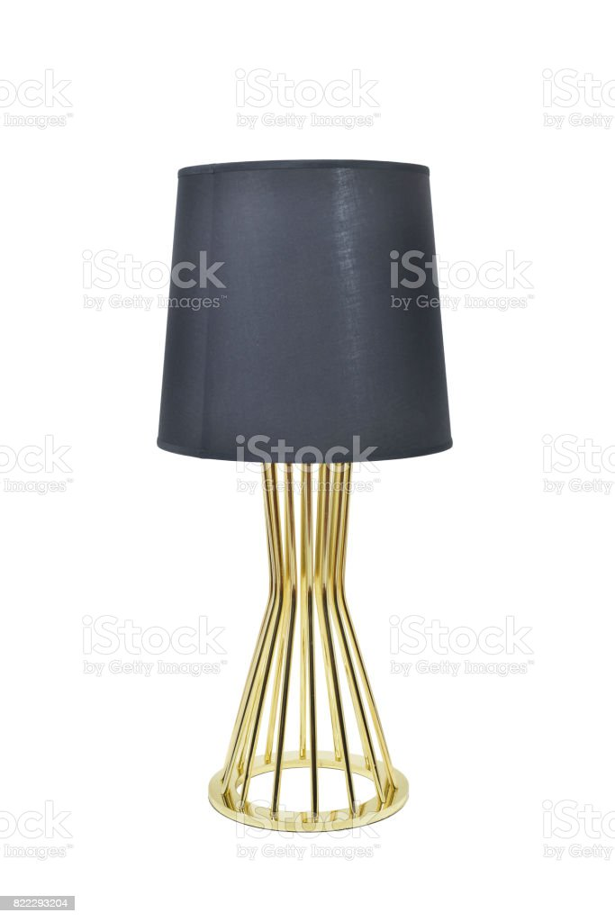 Black table lamp stock photo