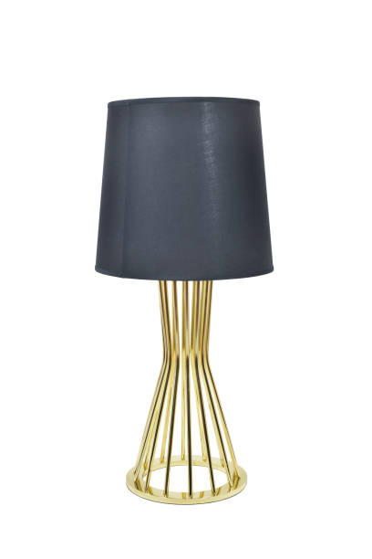 Black table lamp - foto stock