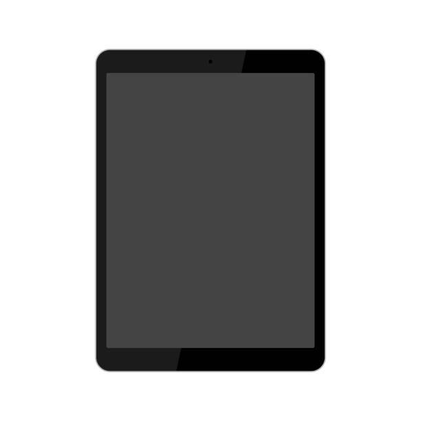 ブラックタブレットイラスト/パワーオフ ストックフォト