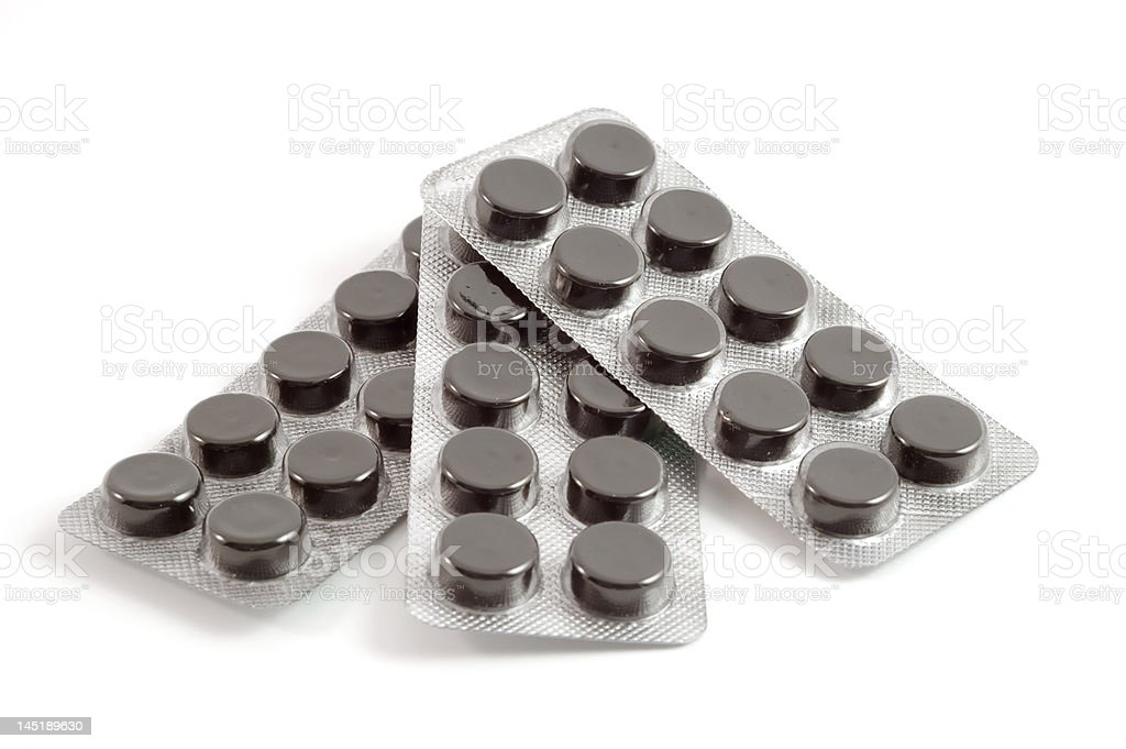 black tablets stock photo