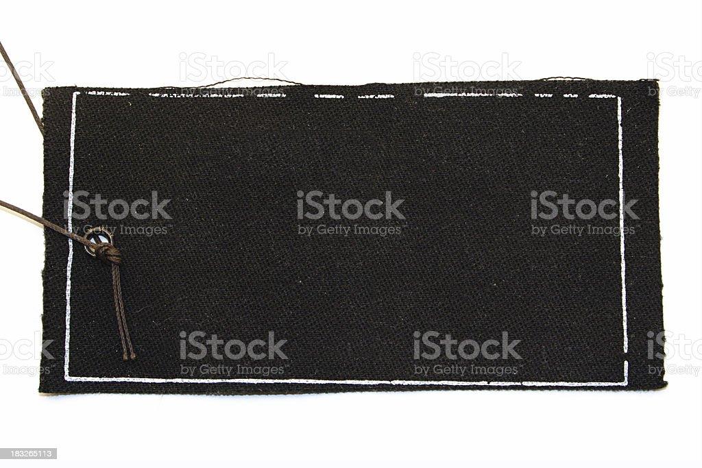 Black tag royalty-free stock photo