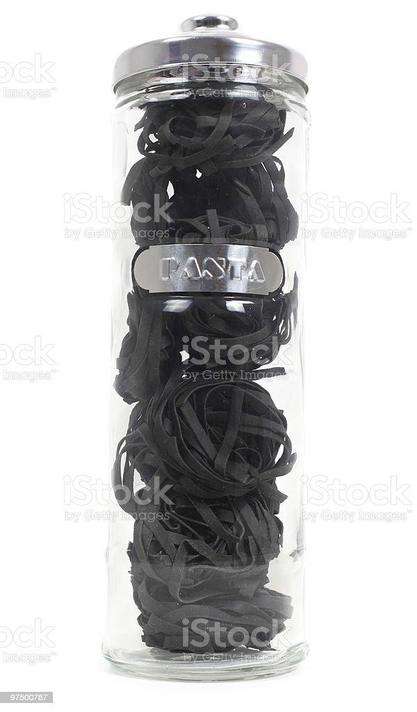 Black tagliatelle royalty-free stock photo