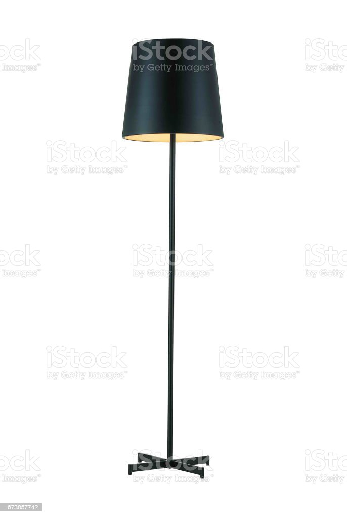 Black Tall Floor Lamp stock photo