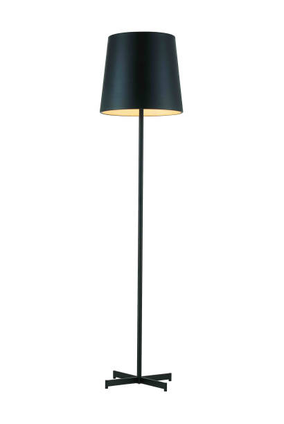 lampe noire de plancher grand - lampe électrique photos et images de collection