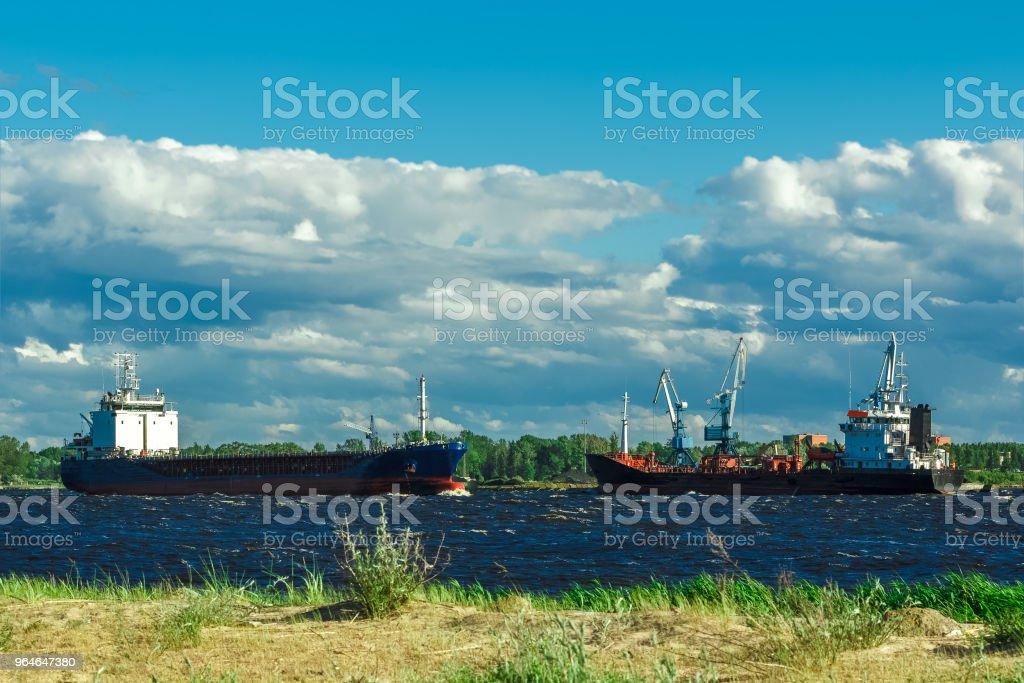Black tanker ship royalty-free stock photo