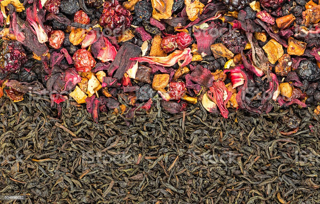 Black tea and fruit tea royalty-free stock photo